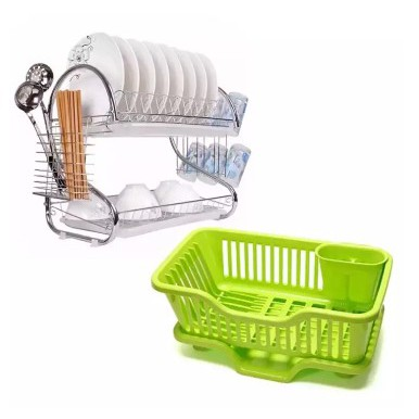 Kitchen Dish Drying Rack With Tray
