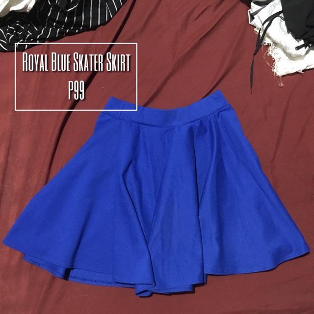 e91d0b134f Royal Blue Skater Skirt | Shopee Philippines