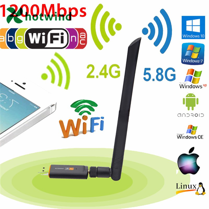 1200Mbps USB3.0 Dual Band 2.4G//5.G Wifi Adapter 802.11ac Wireless Network Card!!