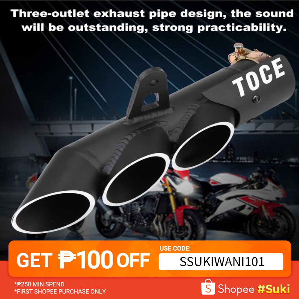 Motorcycle Three-outlet Exhaust Muffler Tail Pipe Tailpipe