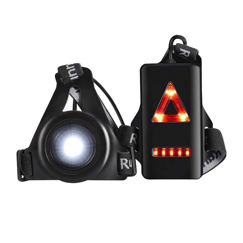 Waterproof LED Running Lights Night Flash Warning Light Chest Lamp Flashlight