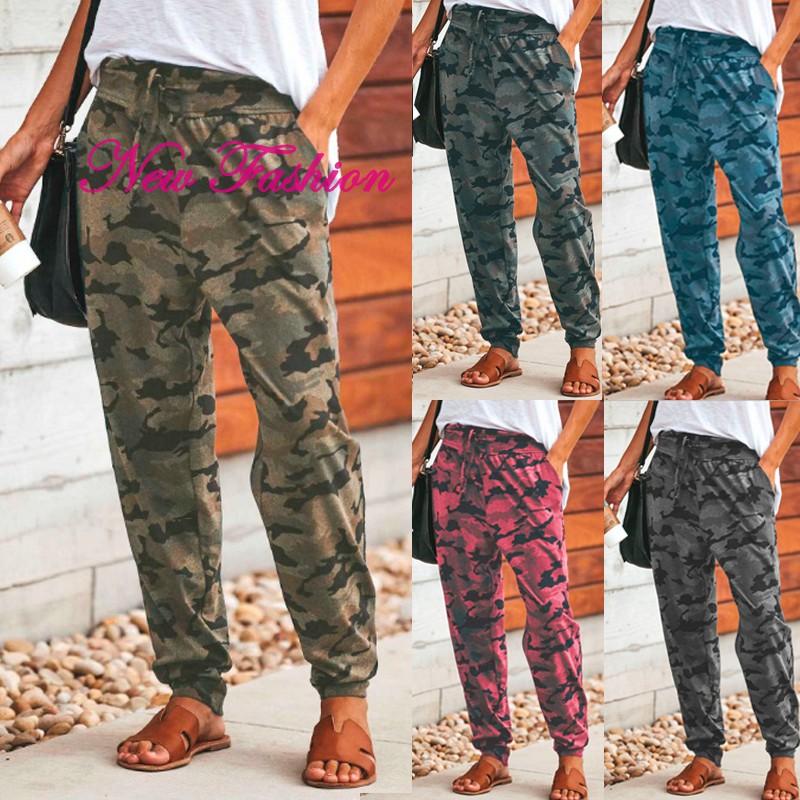 YONGM Women Fashion Multi-Pocket Pants Loose Fit Army Military Ladies Cargo Pants
