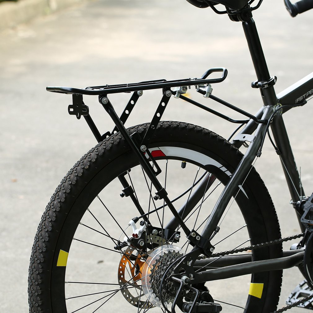 NEW BICYCLE ALLOY REAR RACK CARRIER WITH GUARD BLACK OR SILVER BIKES CYCLING!