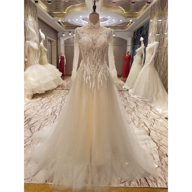 5a83c9e85f Mermaid Bridal Wedding Prom Debut Long Evening Ball Gown   Shopee  Philippines