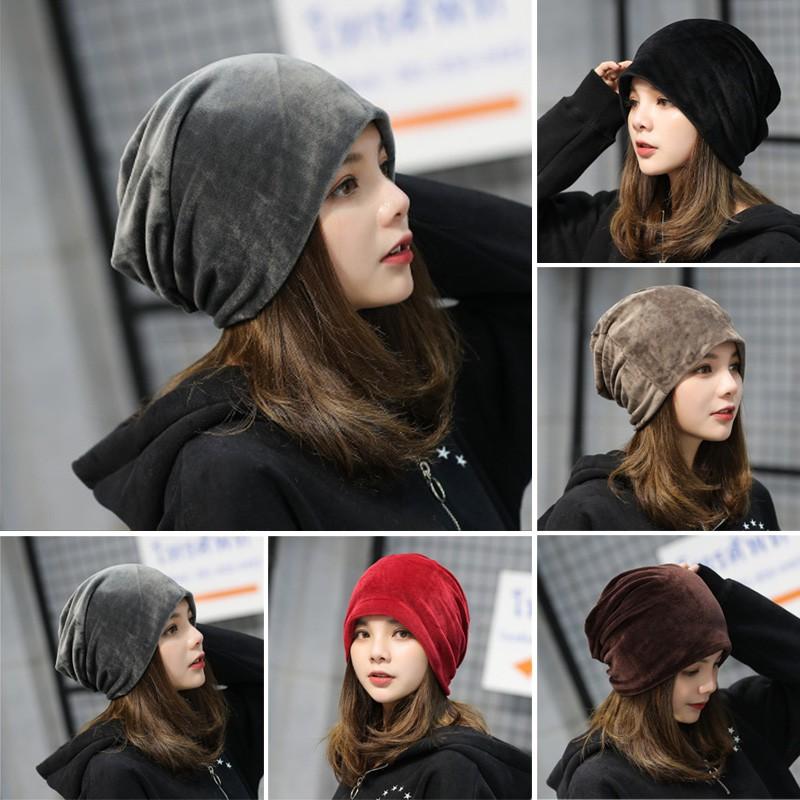 Ladies Cute Winter Plus Velvet Rabbit Fur Knit Hat Gloves Set ... 0a0757cad9cd