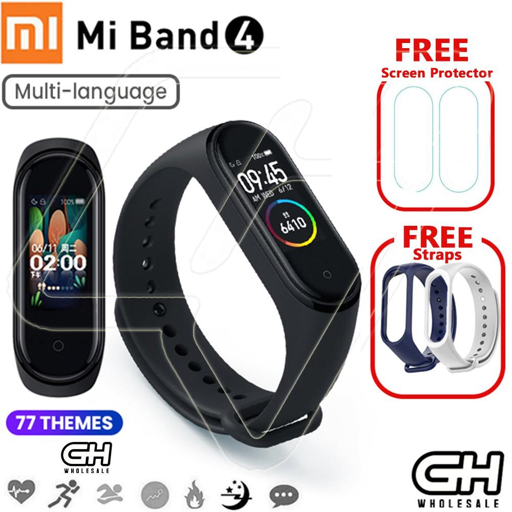 Xiaomi Mi Band 4 Smart Watch Bracelet AMOLED Waterproof Bluetooth 5 0  Fitness Tracker with Freebies