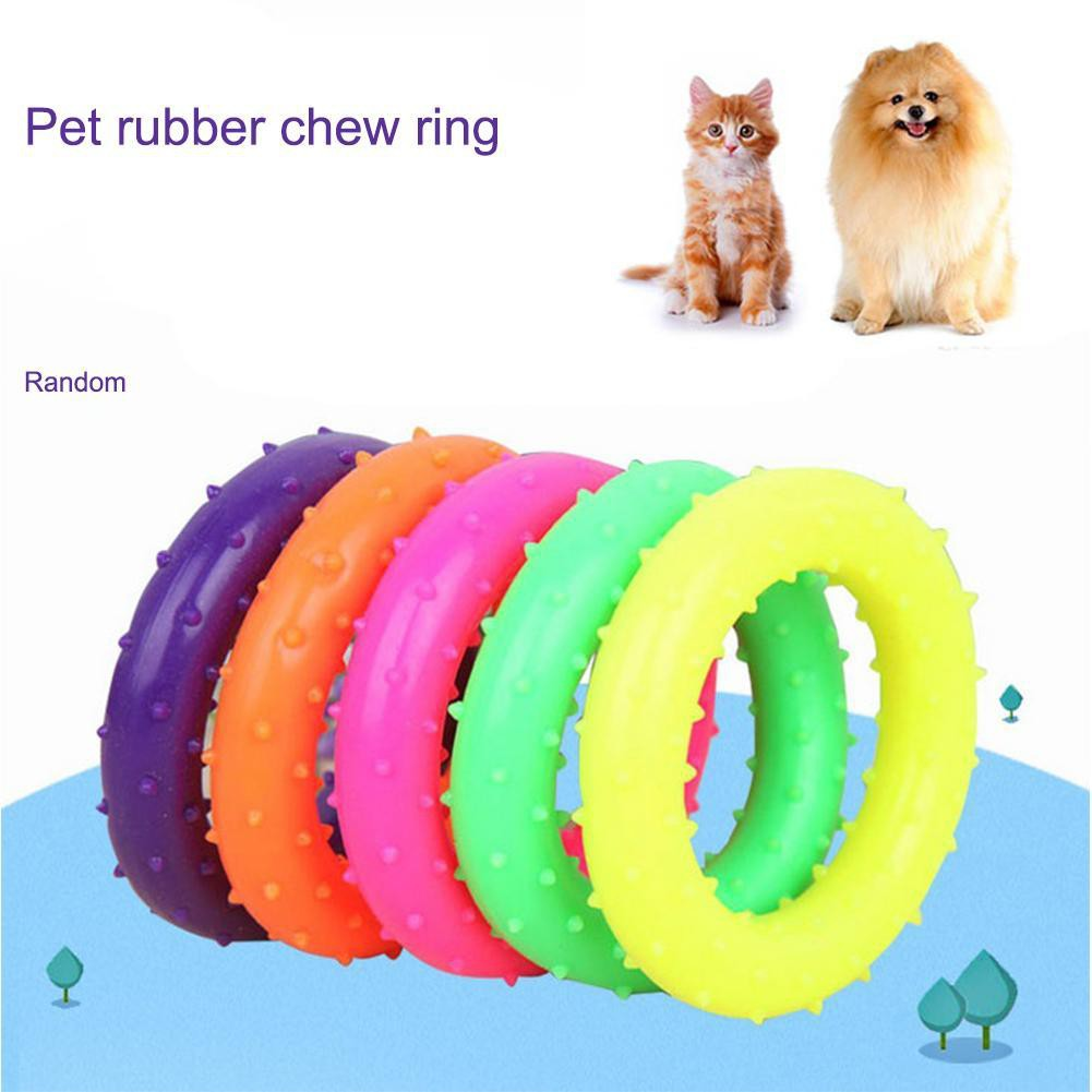 Cat Toys Dog Puppy Cat Pet Led Whistle Squeaker Rubber Chew Bell Ball Playing Toy 6.5cm Pet Products