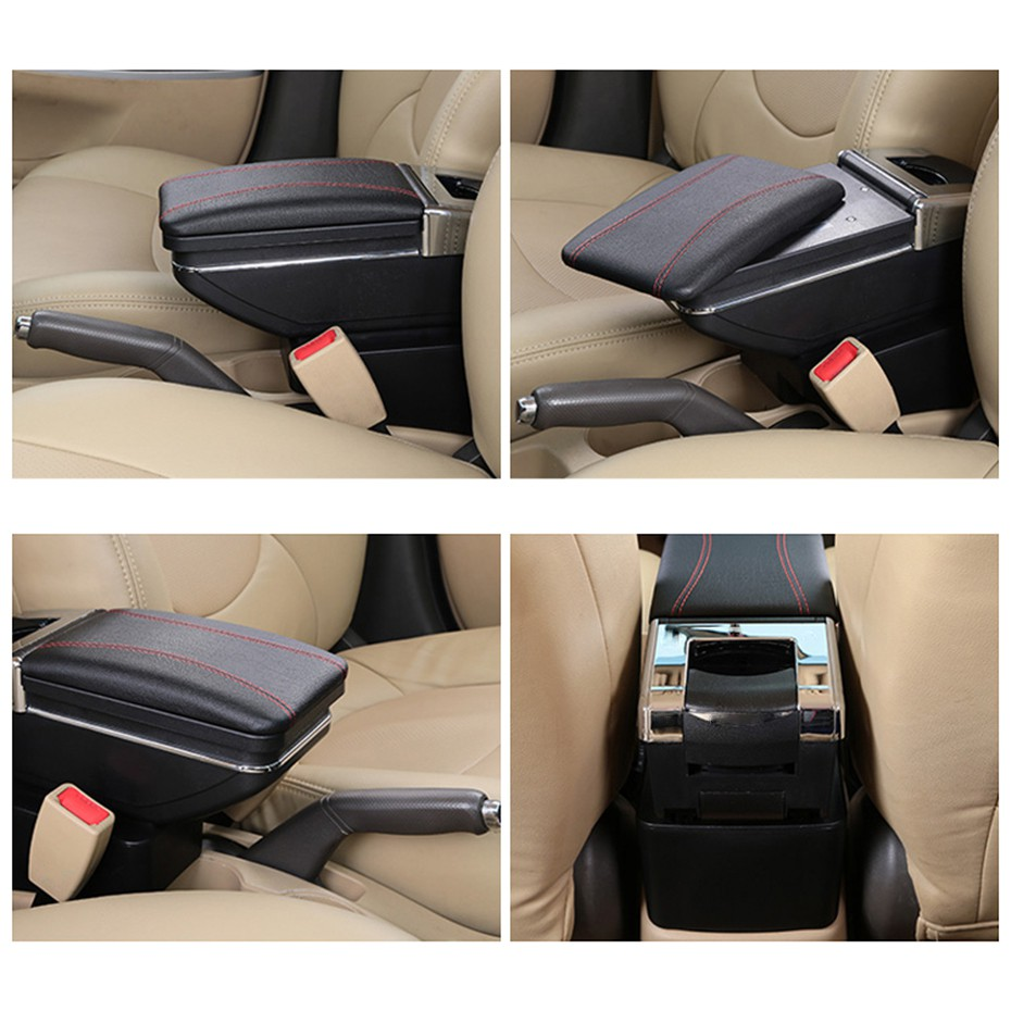 Rotatable Armrest For Captur 2013-2017 Black Thread Storage Box Arm Rest