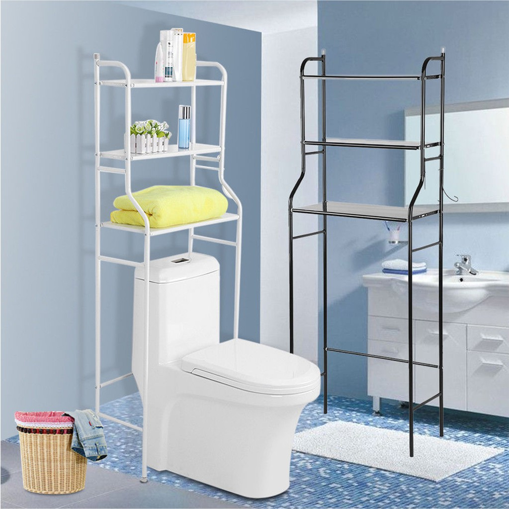 Dual Tier Wall Mounted Stainless Rectangle Shape Bathroom | Shopee ...