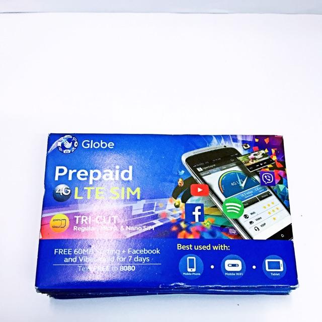 Globe Small Blue LTE Tricut Simcard