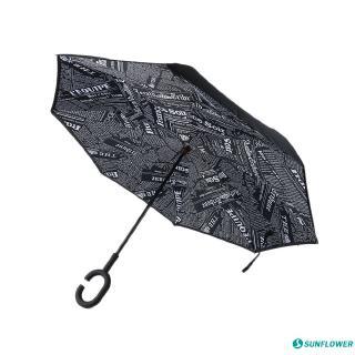 Windproof And Rainproof Double Folding Inverted Umbrella Cheshire Cat Car Reverse Umbrella With C-Shaped Handle UV Protection Inverted Folding Umbrellas