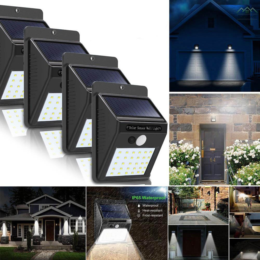 30 LEDs Solar Powered Led Motion Sensor Light Outdoor Garden Security Wall Lamps