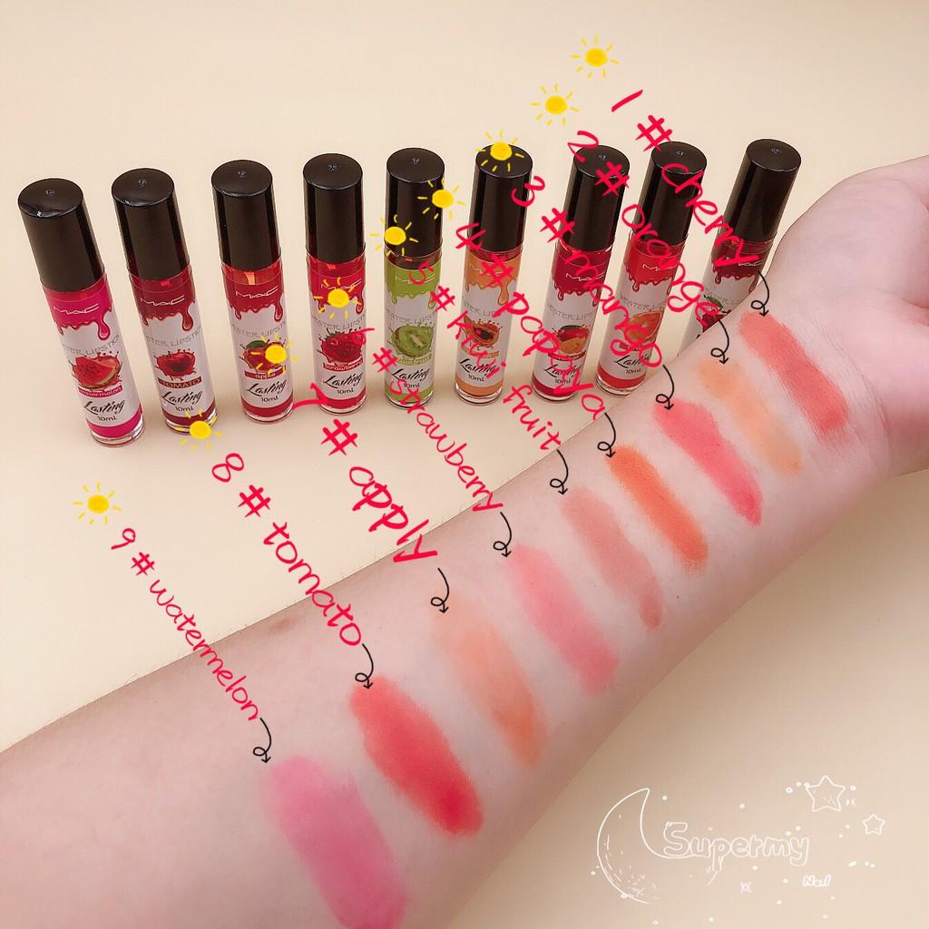 COD 19 pesos MAC Lasting weater lipstick Natural fruit flavor lip blush water Christmas big sale