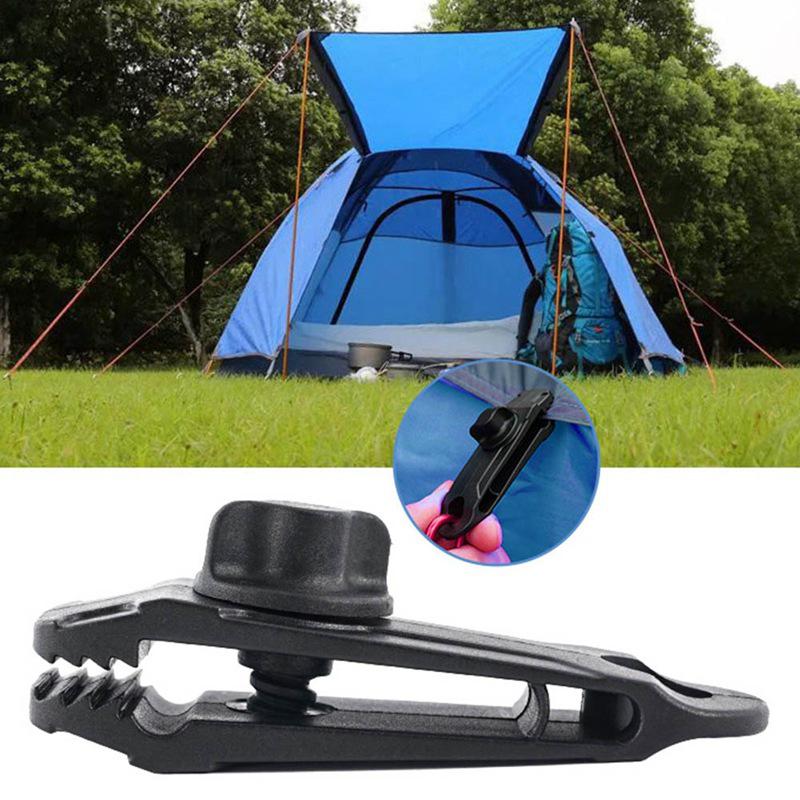 10x Reusable Tent Tarp Tarpaulin Clip Clamp Buckle Camping Tool Heavy Duty Sale