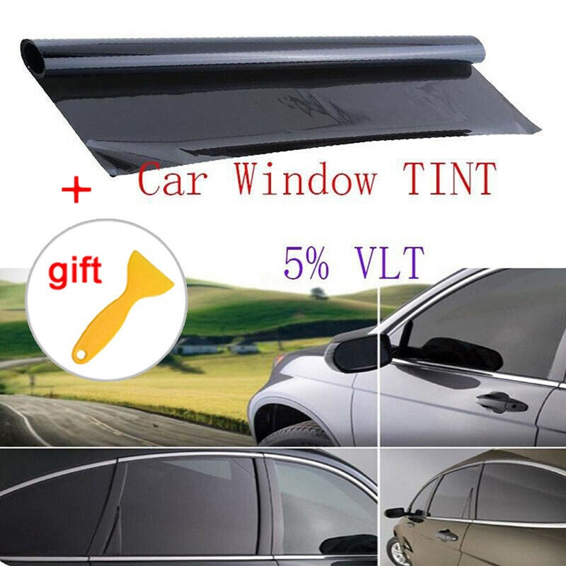 "VLT 35/% Uncut Roll 30/"" x 20FT Window Tint Film Charcoal Black Car Glass Office"