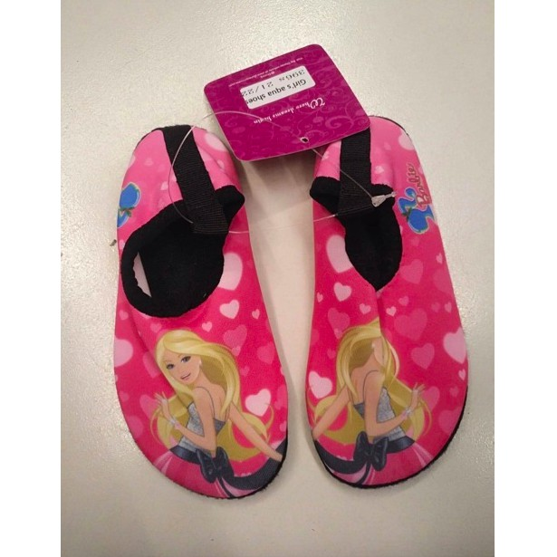 BARBIE cartoons quick dry water aqua shoes kid for girl