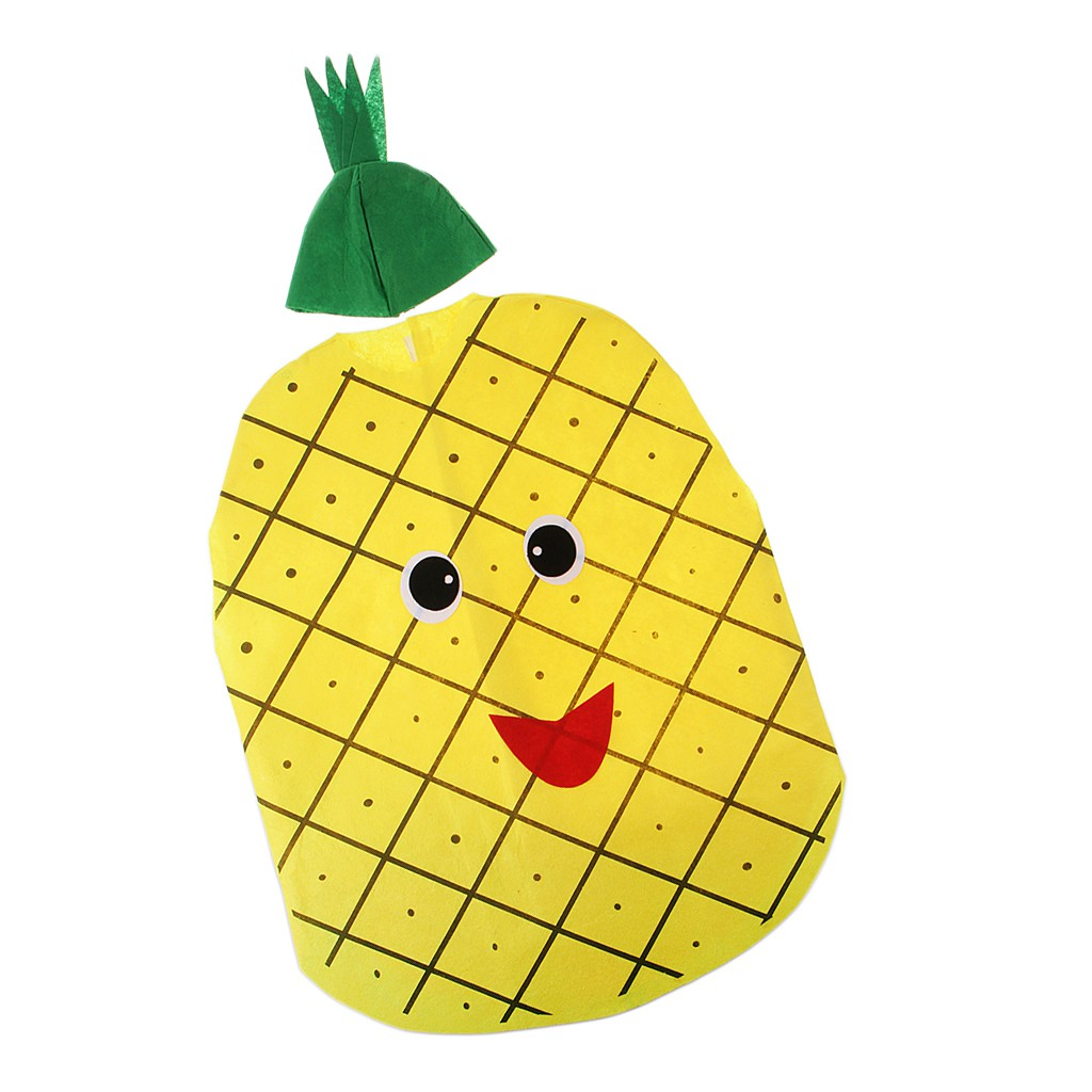 Kids Girls Fruits Vegetables Costume Non-woven Fabric Outfit Party Fancy Dress