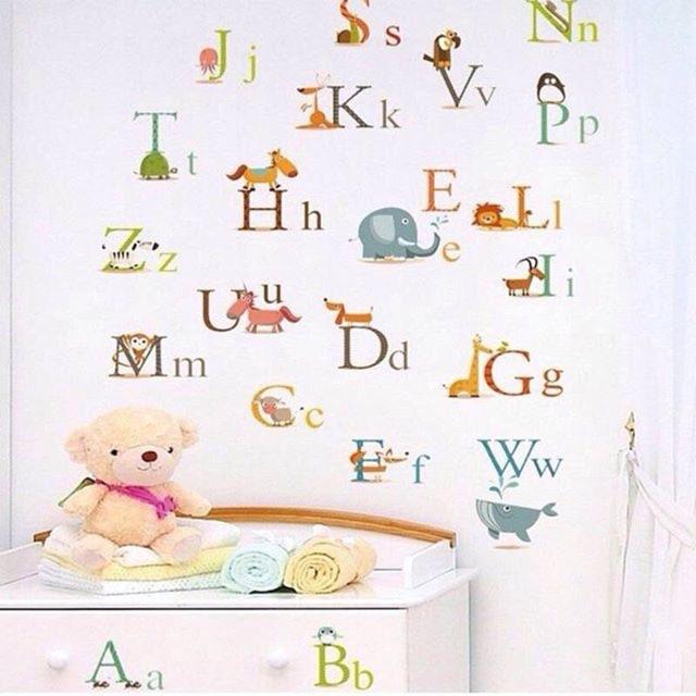 Wall Decal Nursery Alphabet Sho