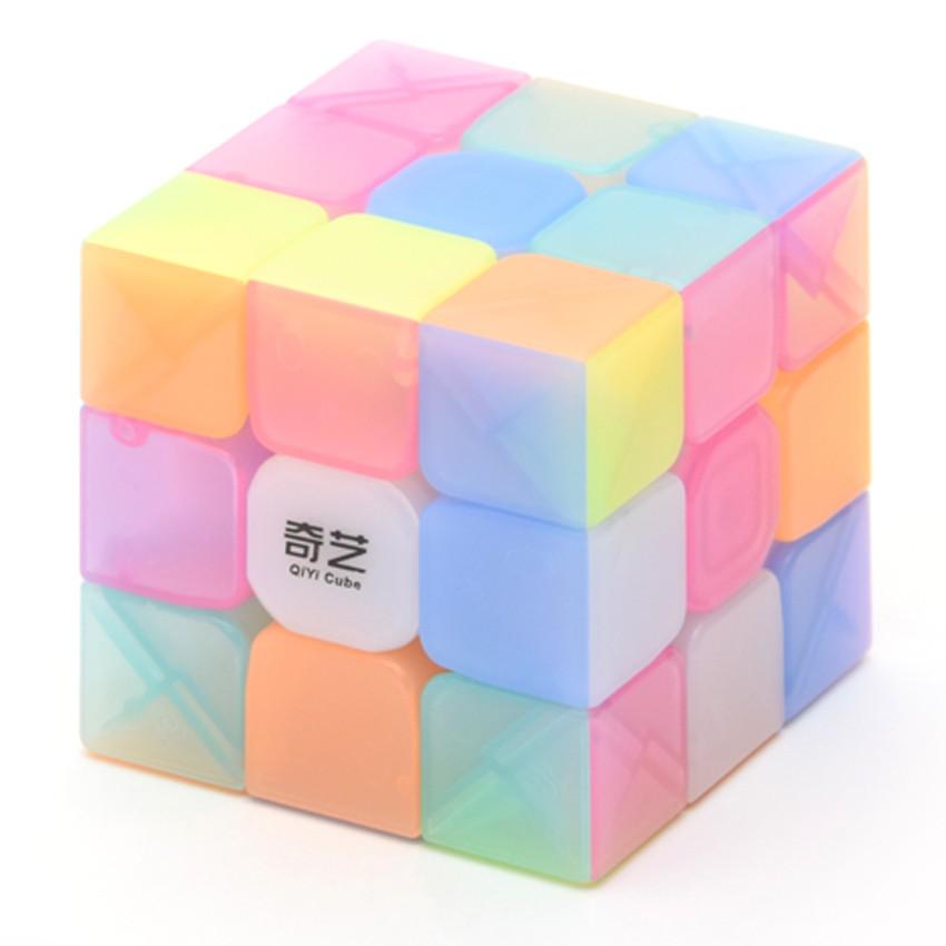 super cute biggest discount cheapest price QiYi Warrior W 3x3 Jelly Speed Rubik's Cube Transparent