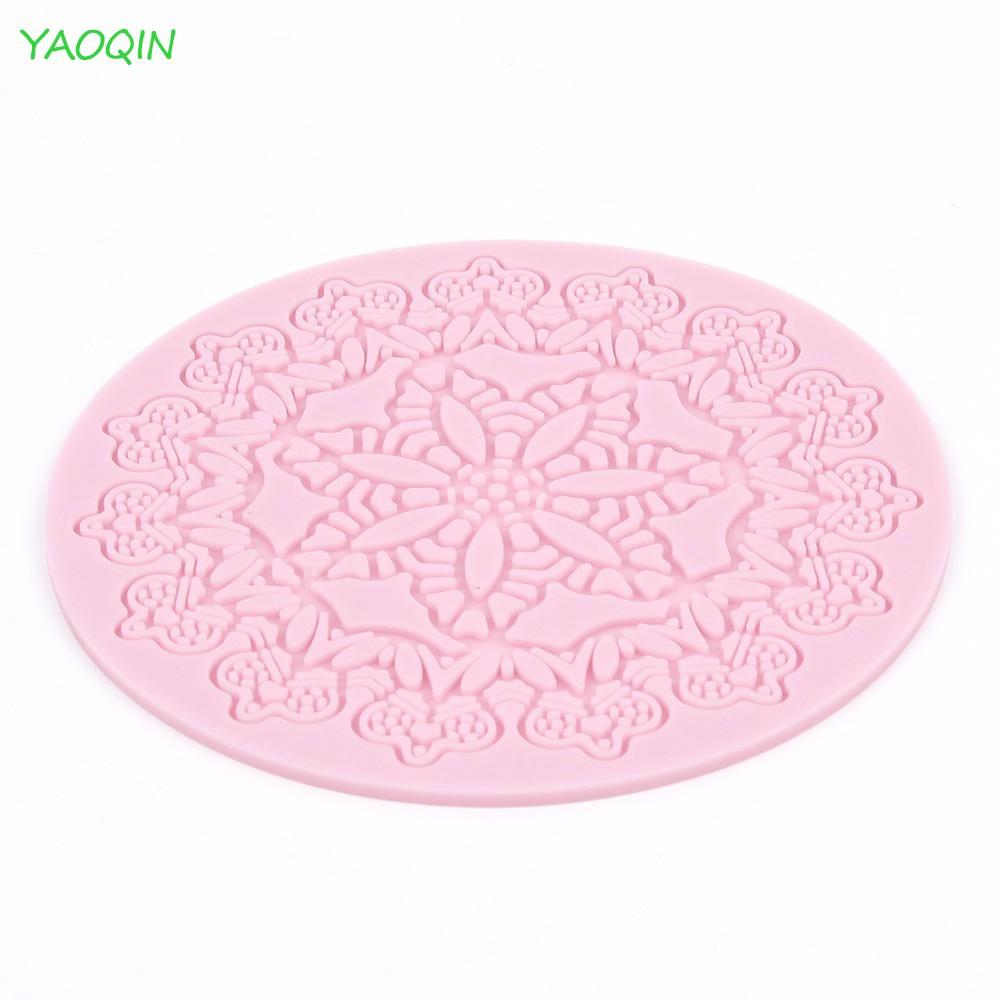 Silicone Mold Mould Fondant Cake Decoration Round Lace Shaped  Baking Tool Kits