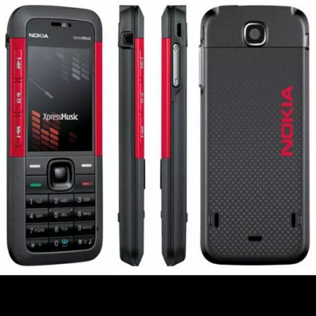 cheapest Unlocked Original Mobile Phone Nokia 5310 XpressMusic Red/Black  Free Shipping