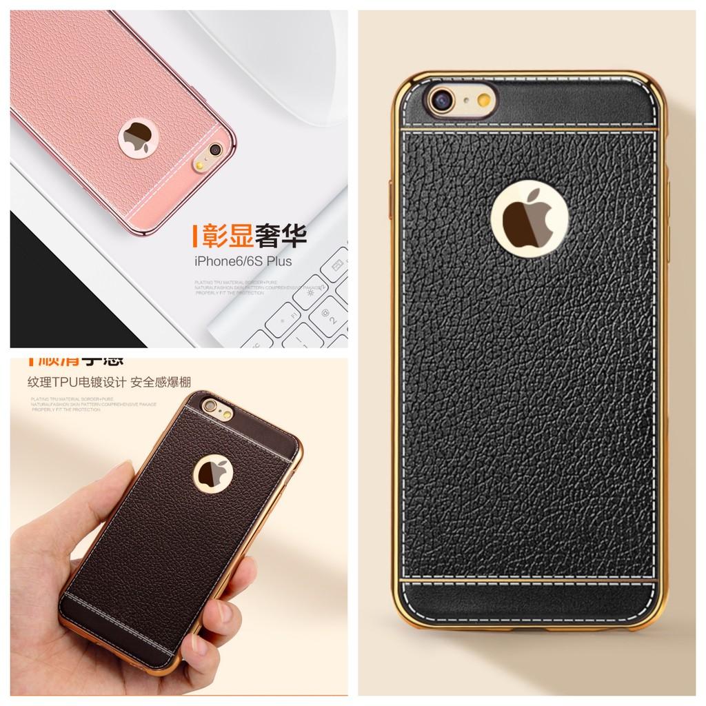 3dd5c97b2f13a iPhone 5 5S 6 6S 7 8 Plus X XS Soft Leather Texture Case AIM