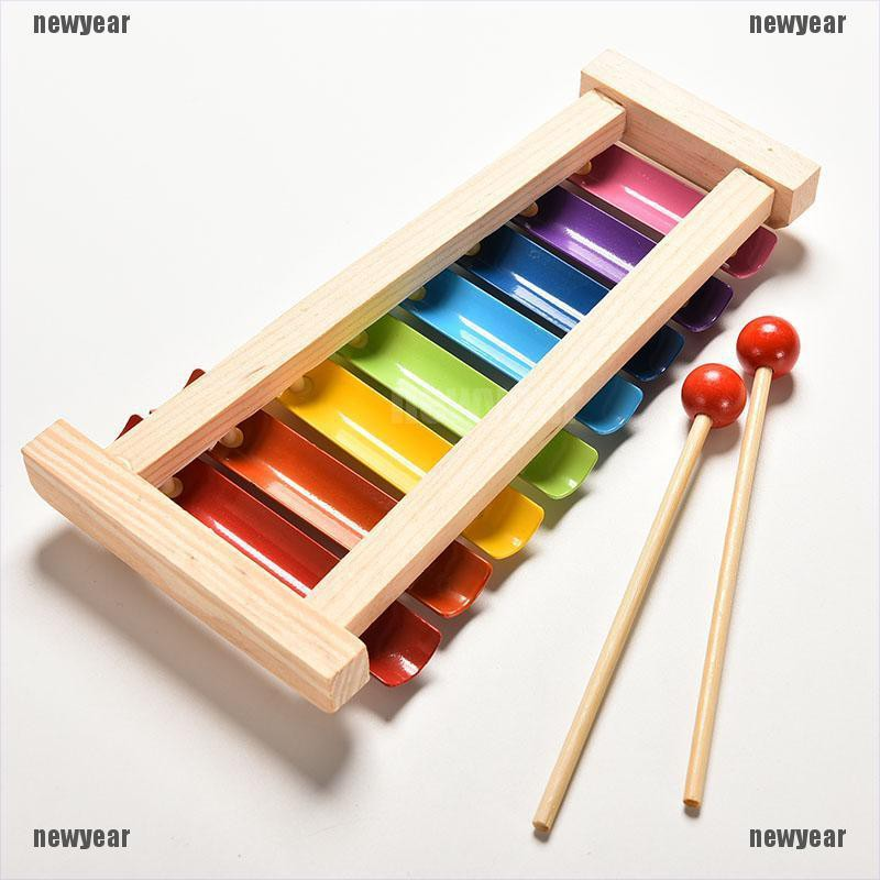 Cute 8 Tone Xylophone Musical Toys Wisdom Development Wooden Toy For Baby Kid RS
