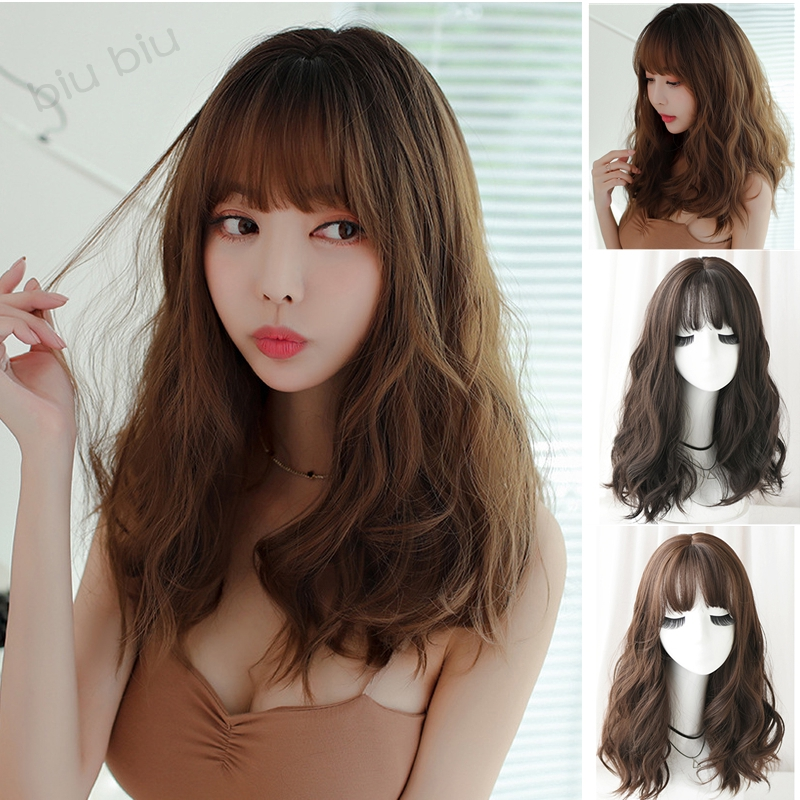 Women Girls Lady Natural Fringe Cosplay Costume Party Curly Long Full Hair Wigs