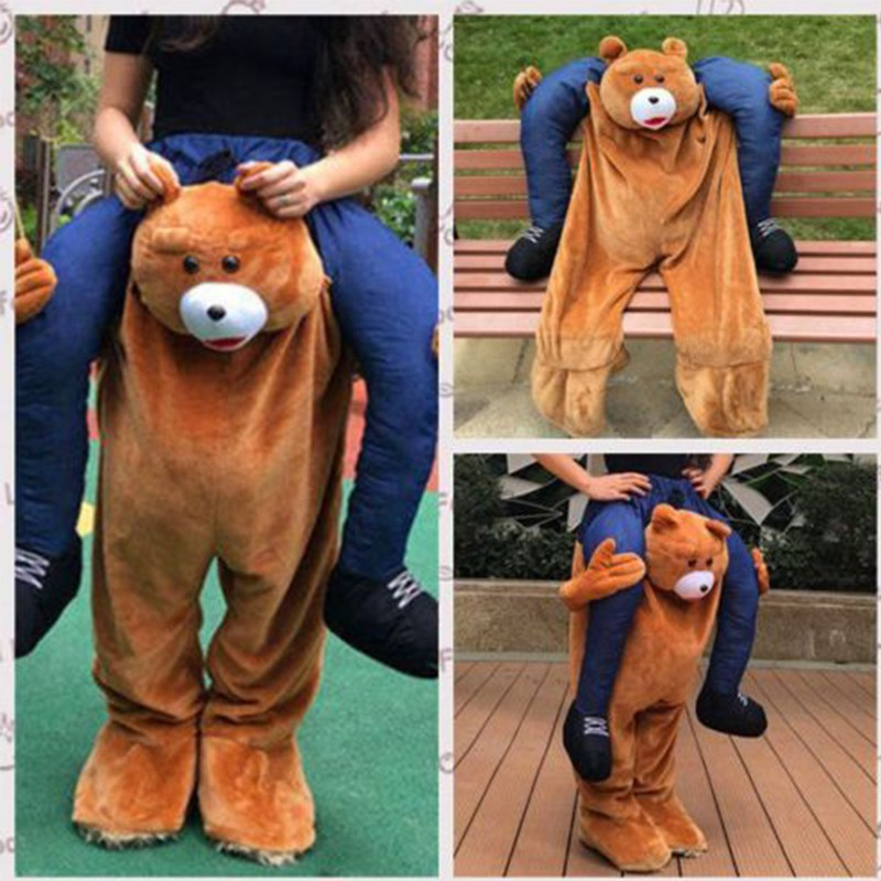 Carry Me piggy back Cavalcare NOVITA /'Teddy Bear Stag Mascotte Costume