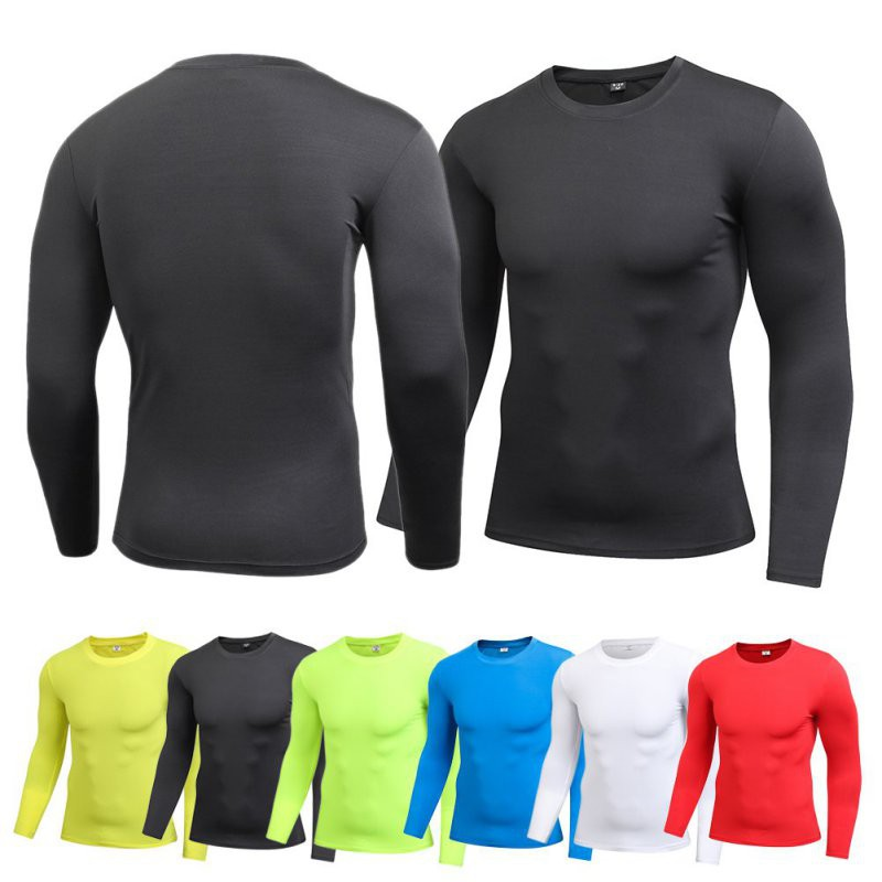 1d259aa30be5a Men Compression Tight Top Shirt Long Sleeve T-shirt Tops Tee   Shopee  Philippines