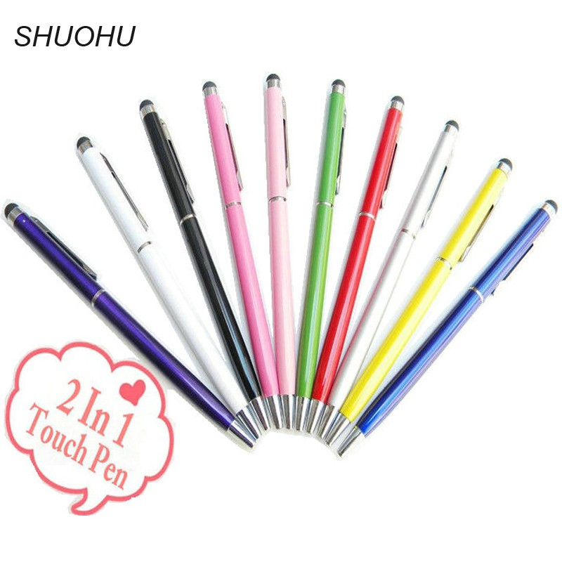 5745d6633ce6 10PCS 2 in 1 Stylus Pen Touch Screen Pen For Iphone Samsung