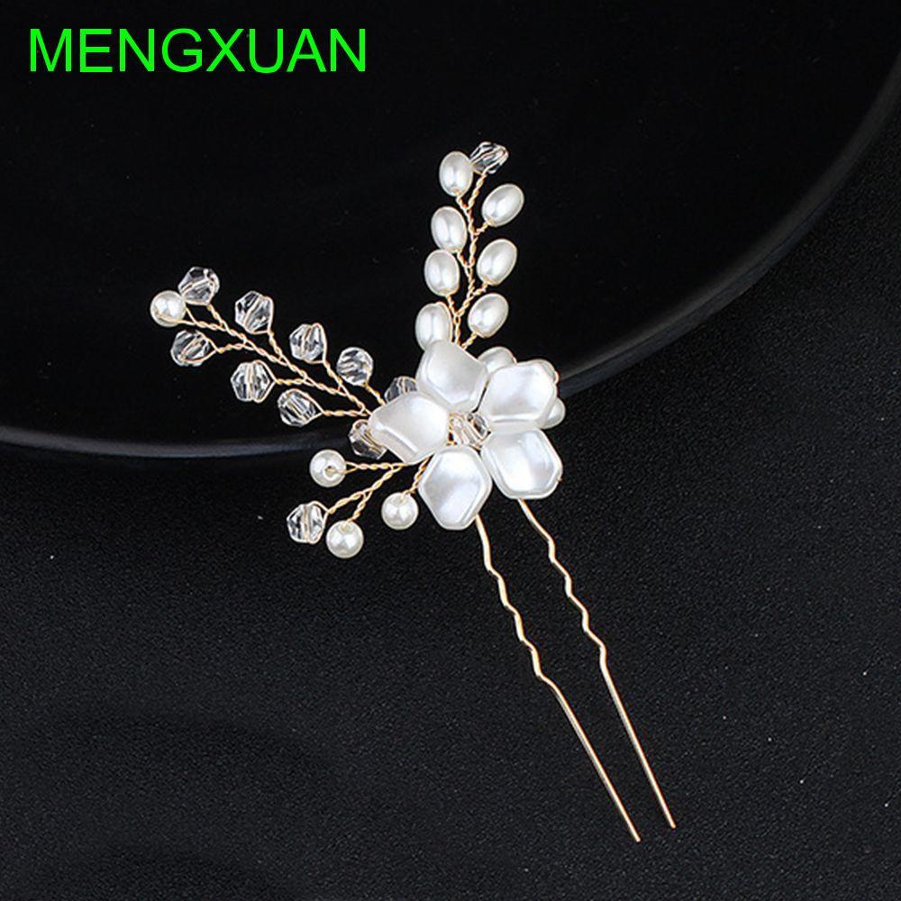 Jewelry Handmade Headdress Pearl Crystal Hair Pins Shopee