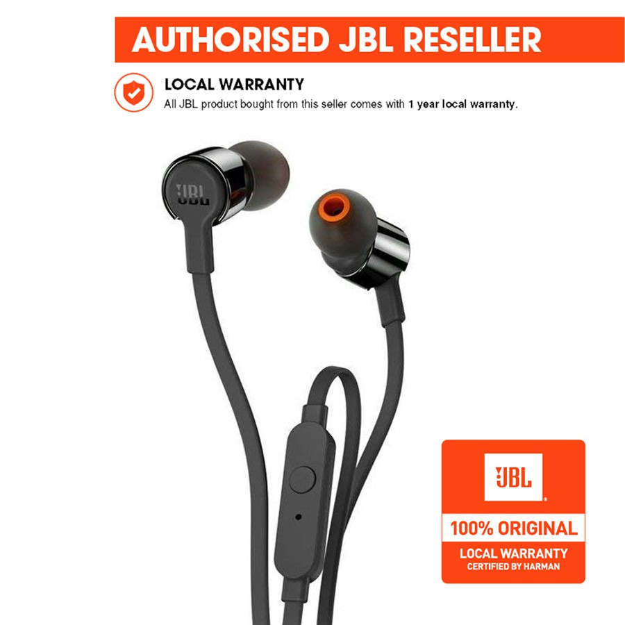 fc397109d08 JBL T290 In-Ear Headphones with Microphone Sport Pure Bass | Shopee  Philippines