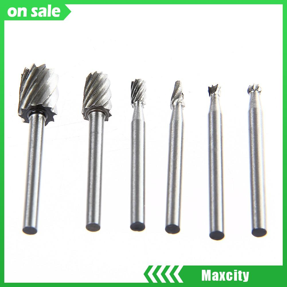 6pcs 3.17mm Shank HSS Routing Router Bits Set for Wood Working Rotary Tools