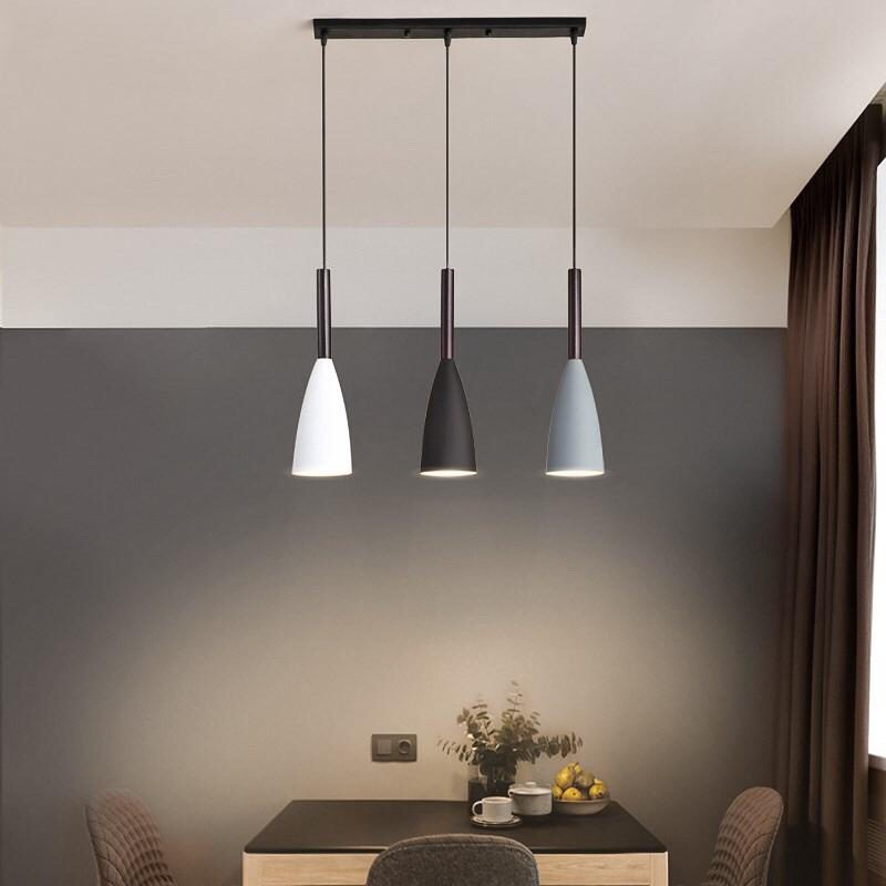 Modern 3 Pendant Lighting Nordic Pendant Lights Over Dining Table Kitchen Island Hanging Lamps Dining Room Lights E27 Shopee Philippines
