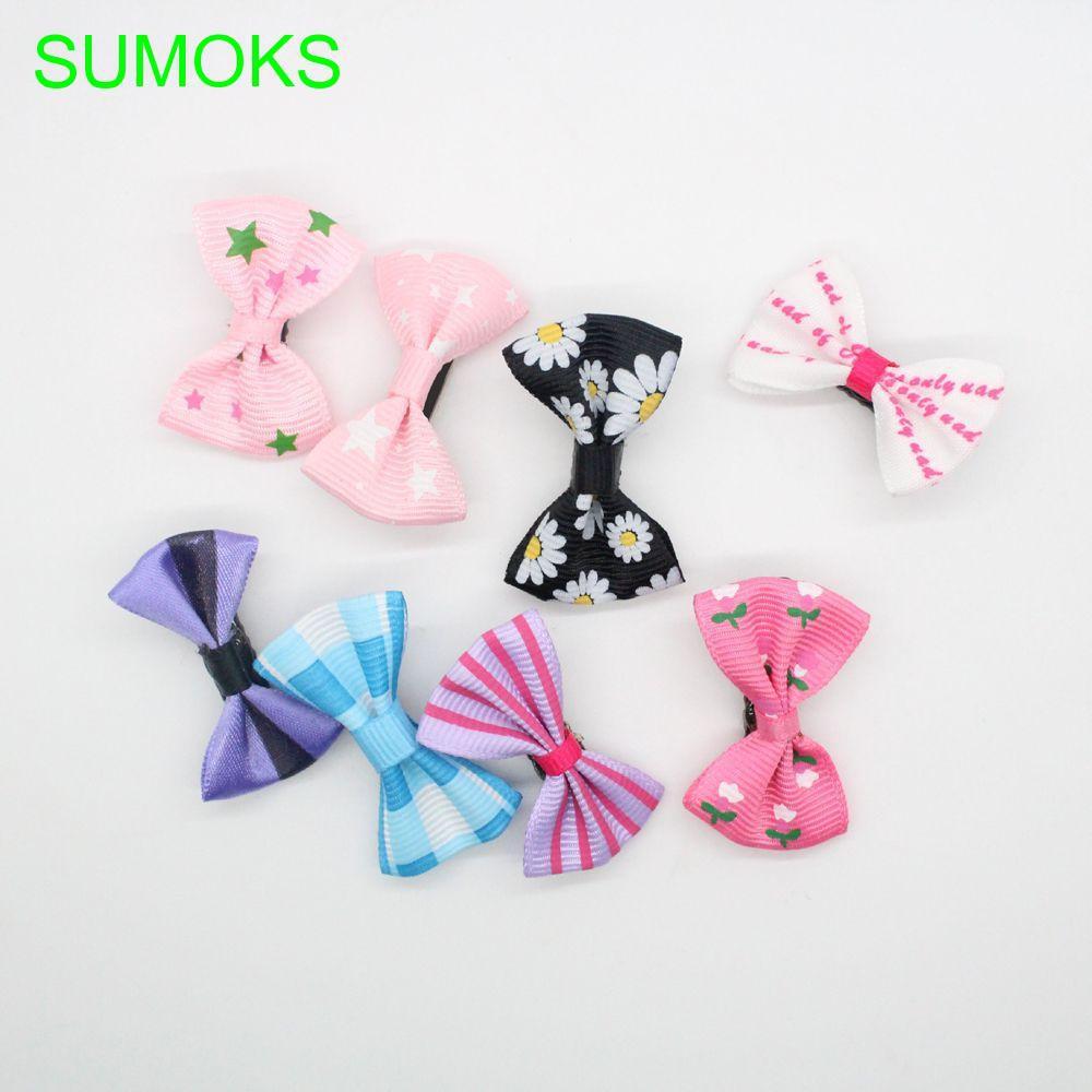 7 Color Fabric Cat Bow Girl Child Baby Hairpin Hair dress Duckbill Kid Hair Clip