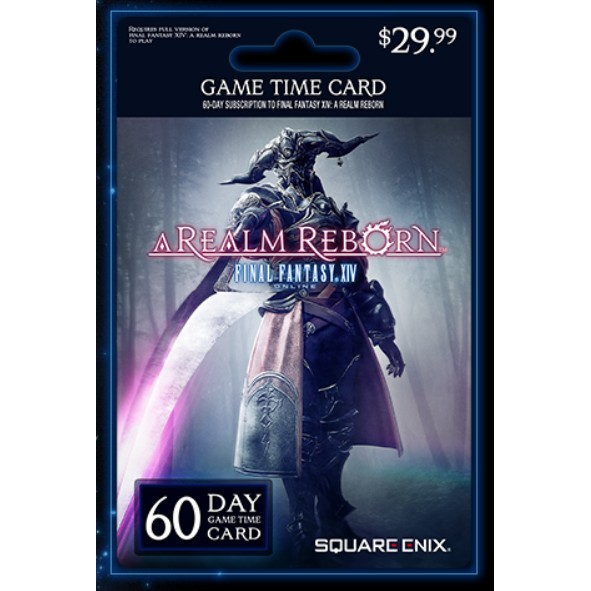 FFXIV Final Fantasy XIV 60 Days Game Time Subscription Card