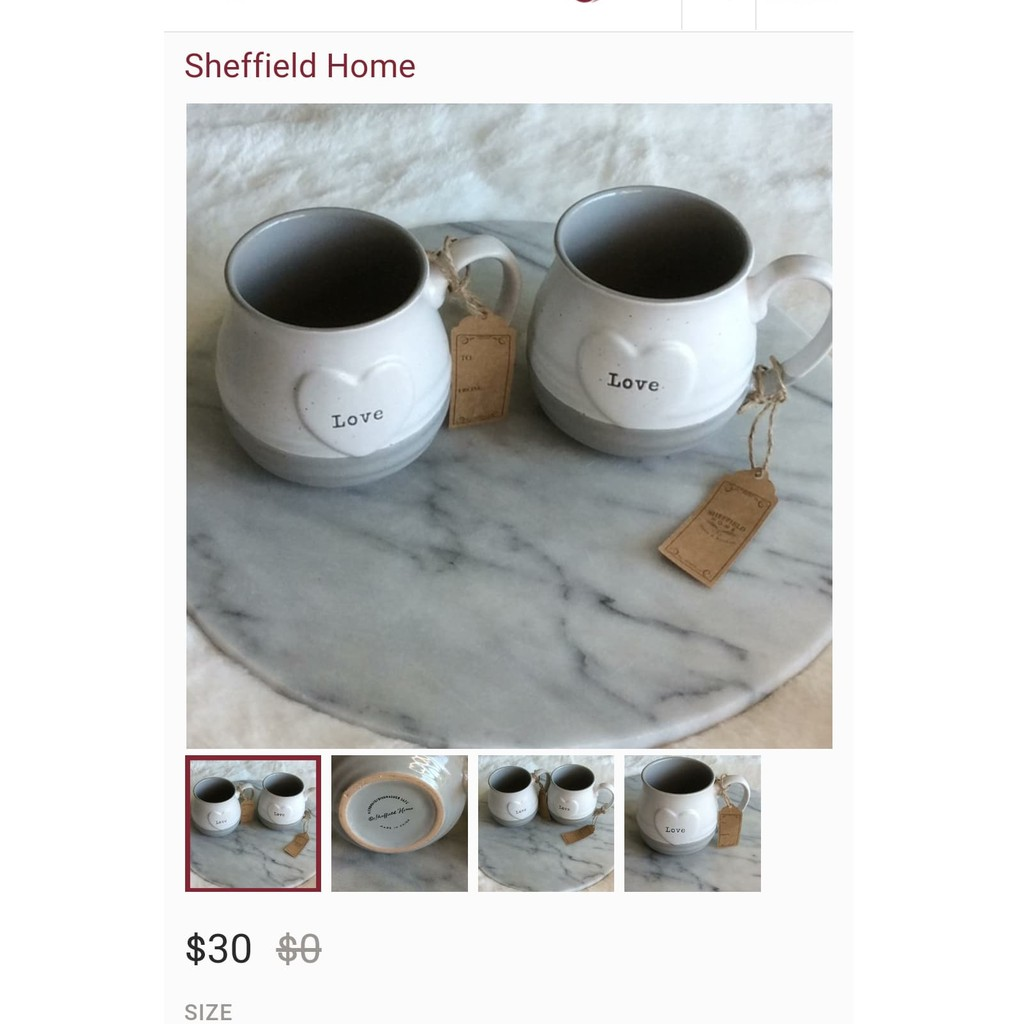 Couples Mug Super Big Mug Love Love Design Bu Sheffield Home Shopee Philippines