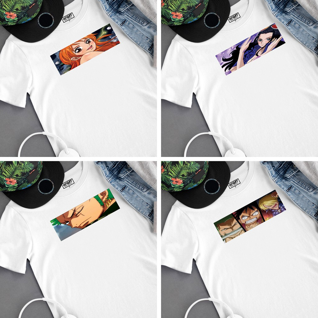 One Piece Anime T Shirts Nami Zoro Luffy Sanji Robin Anime T Shirts One Piece Characters Design Shopee Philippines