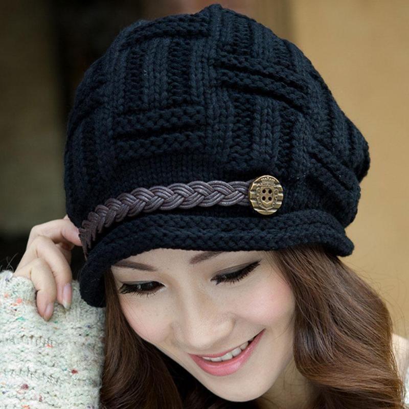 8b4f3dcf923e2 Women Classic Wool Blend Warm French Fluffy Beanie Beret Hat ...