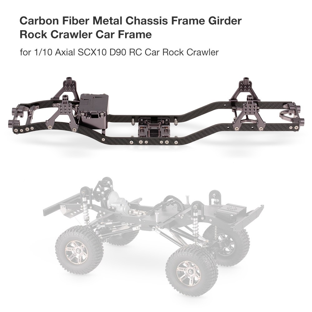 Carbon Fiber and Metal Chassis Frame Girder RC Car Frame for