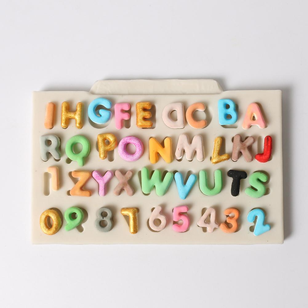 Letter Silicone Fondant Cake Mold DIY Chocolate Baking Decor