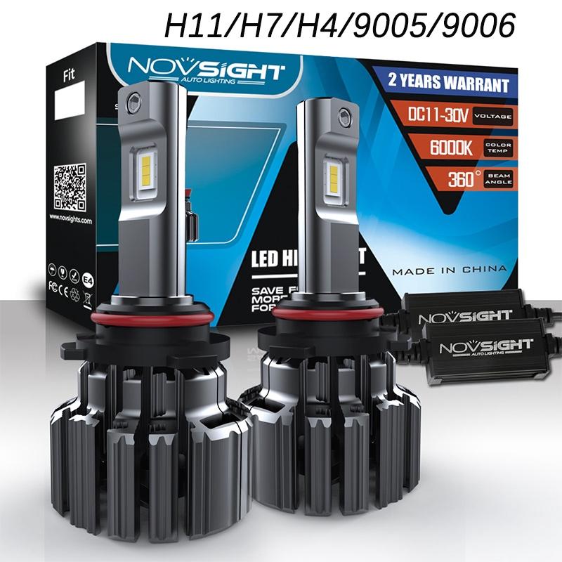 NOVSIGHT H11 H7 H4 80W 6000K LED Headlight 15000LM/pair