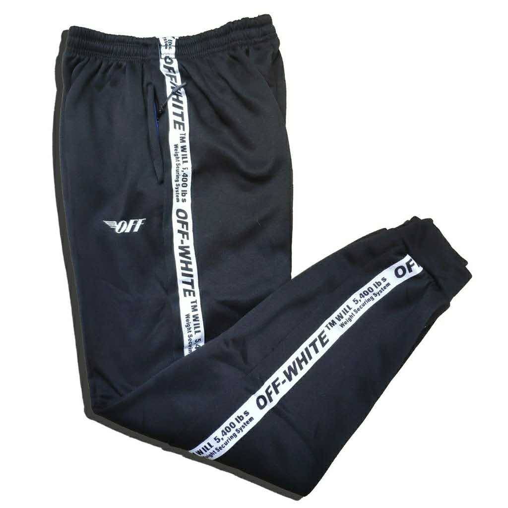 Men's OFF WHITE sweatpants cotton knit comfort fashion