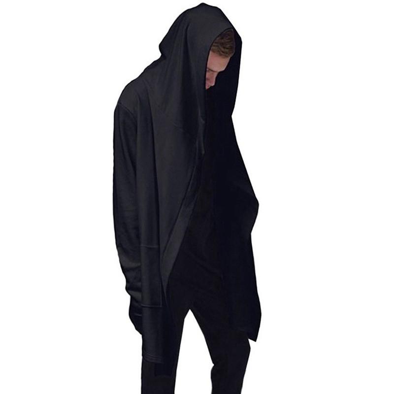2017 Hoodies Men Black Cardigan Hoodie Men Hooded Mantle Assassin Creed Clothing