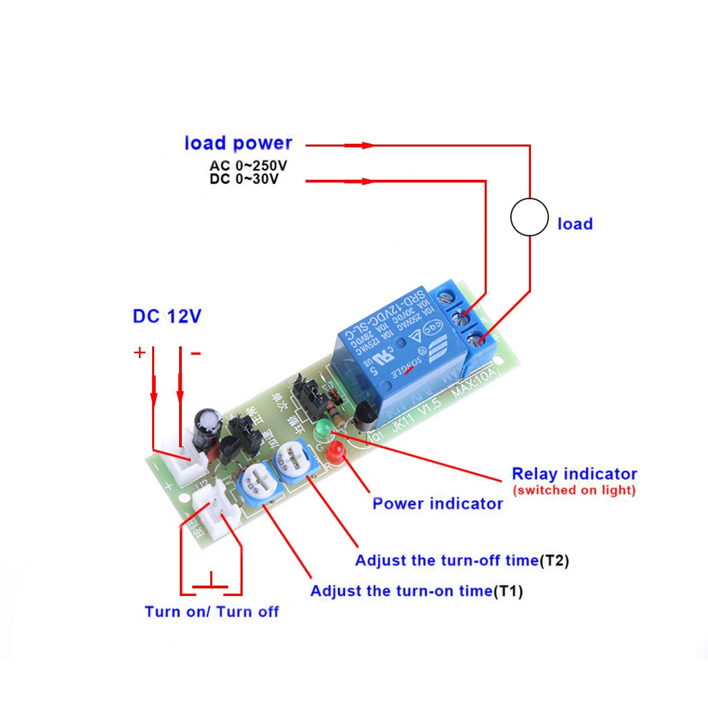 Disjunctor W1209 Dc 12v Temperature Control Switch Shopee Philippines 3pcs Delay Timer Relay Module Turn On Off
