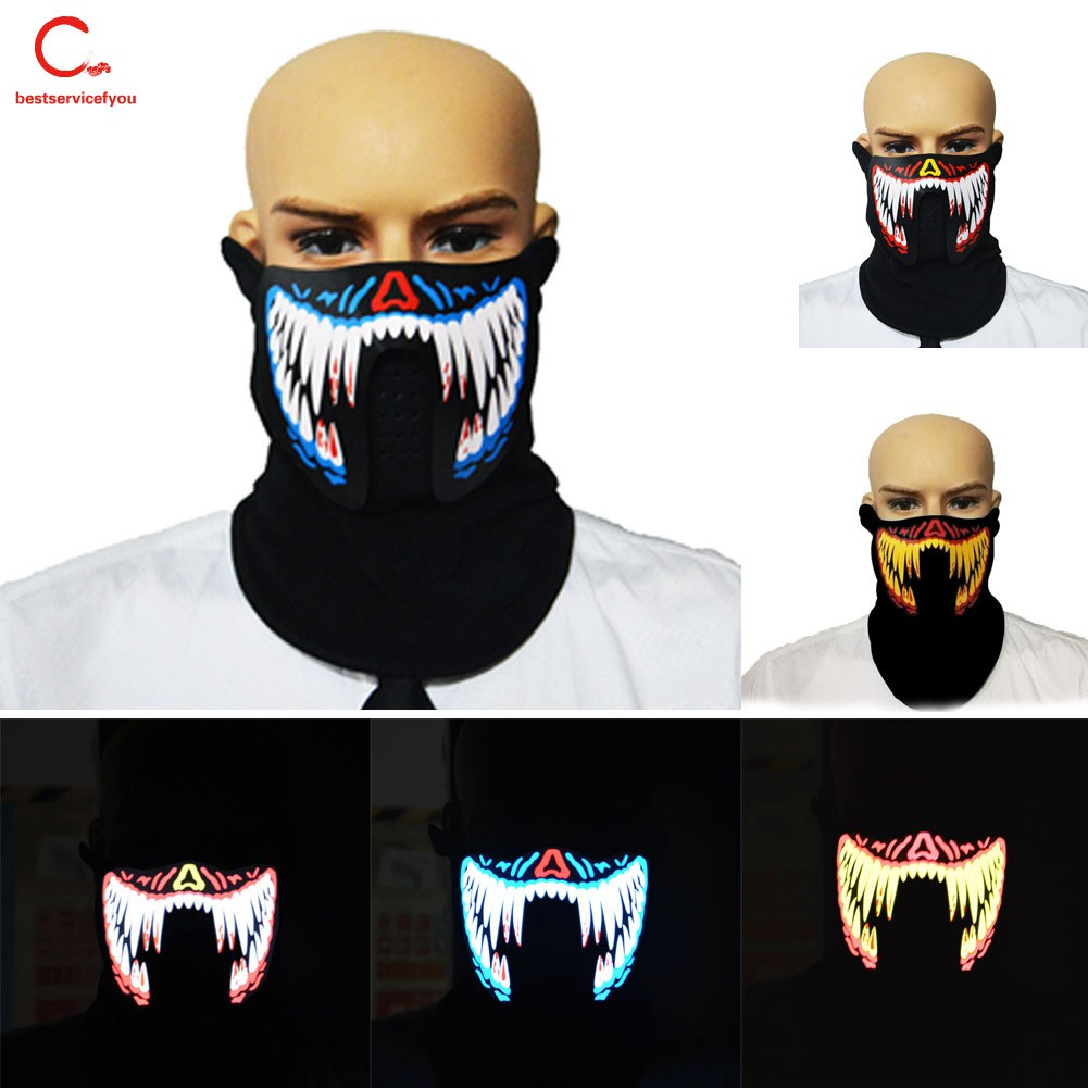 NEW LED Flashlight Snowflake Star Party Masks Christmas Party Cosplay Face Mask