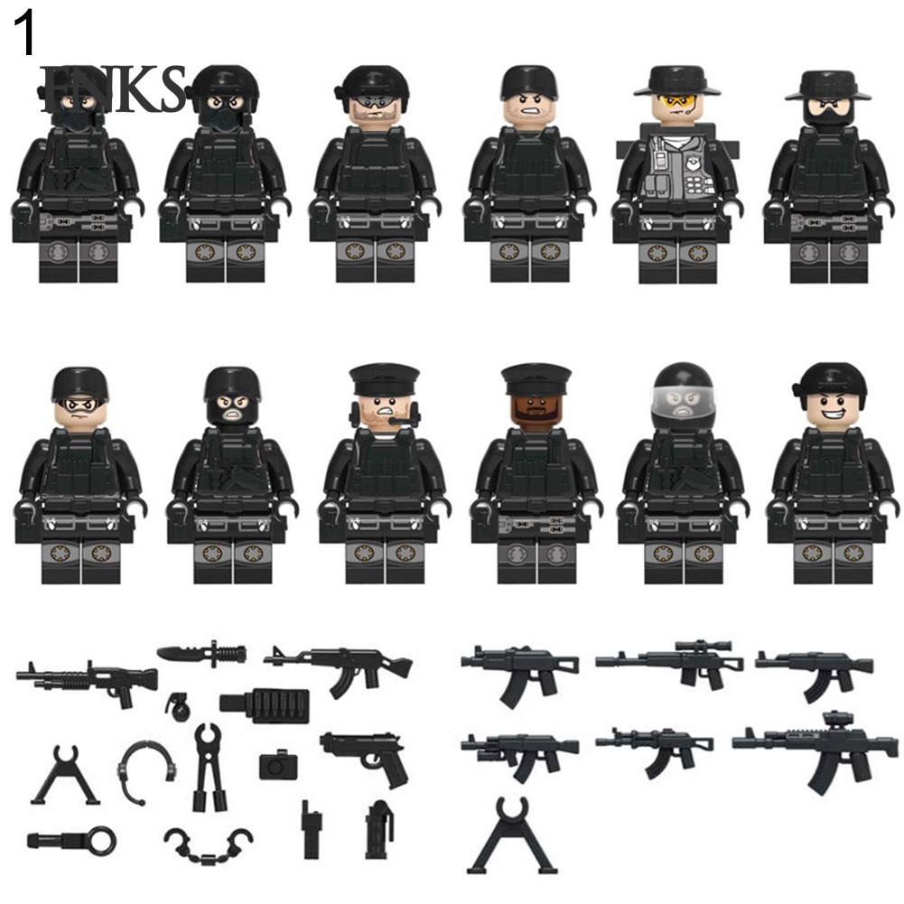 3pcs//set Military Speical Force Army Soldier Building Blocks Bricks Figures Toys
