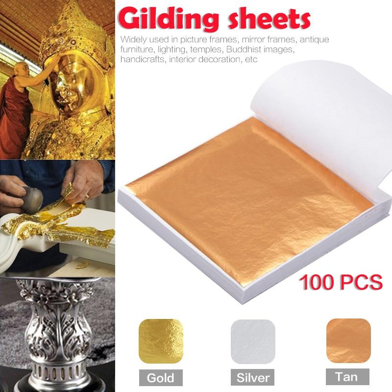 Art Crafts Gliding Sheet Frame Material Gold Foil Decoration