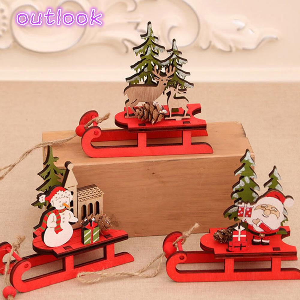 Ready Stock Diy Christmas Tree Sled Decoration Manual Product Beautiful Wood Shopee Philippines
